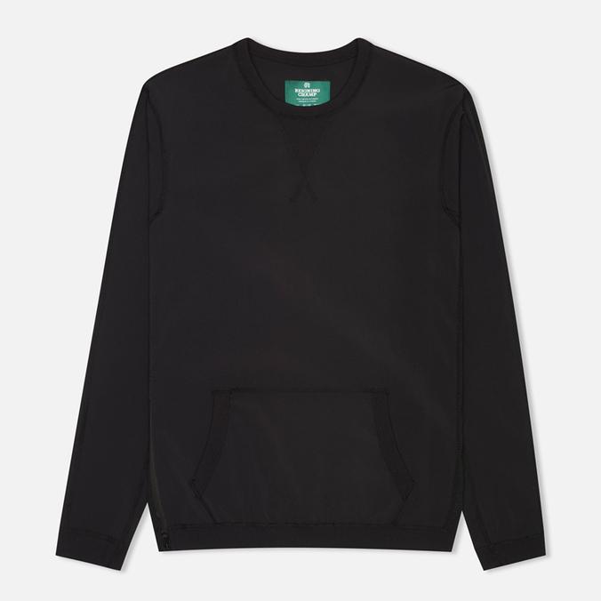 Reigning Champ Side Zip Men's Sweatshirt Black