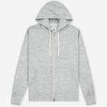 Reigning Champ Terry Lightweight Full Zip Men's Hoody Concrete photo- 0