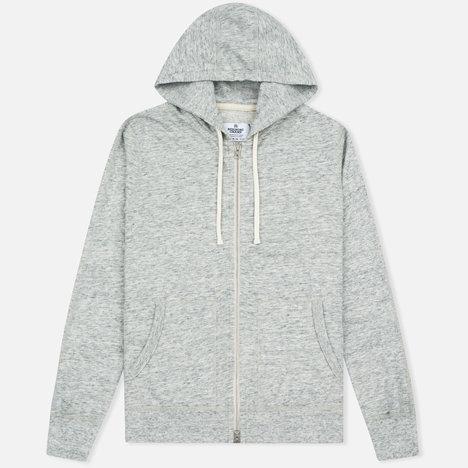 Мужская толстовка Reigning Champ Terry Lightweight Full Zip Concrete