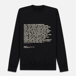 Мужская толстовка Rick Owens DRKSHDW Crew Neck Affliction Print Black/Natural