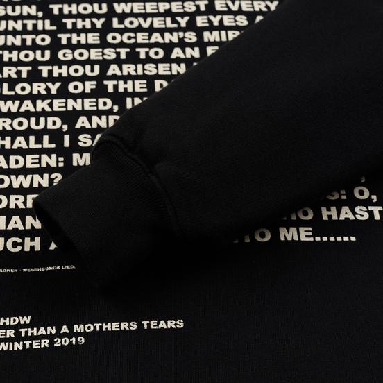 Мужская толстовка Rick Owens DRKSHDW Crew Neck Affliction Print Black/Natural