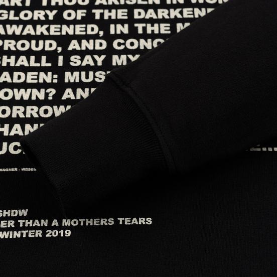 Мужская толстовка Rick Owens DRKSHDW Pullover Hoodie Affliction Print Black/Natural