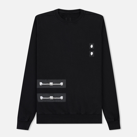Мужская толстовка Rick Owens DRKSHDW Woven Crew Neck Sweat Black