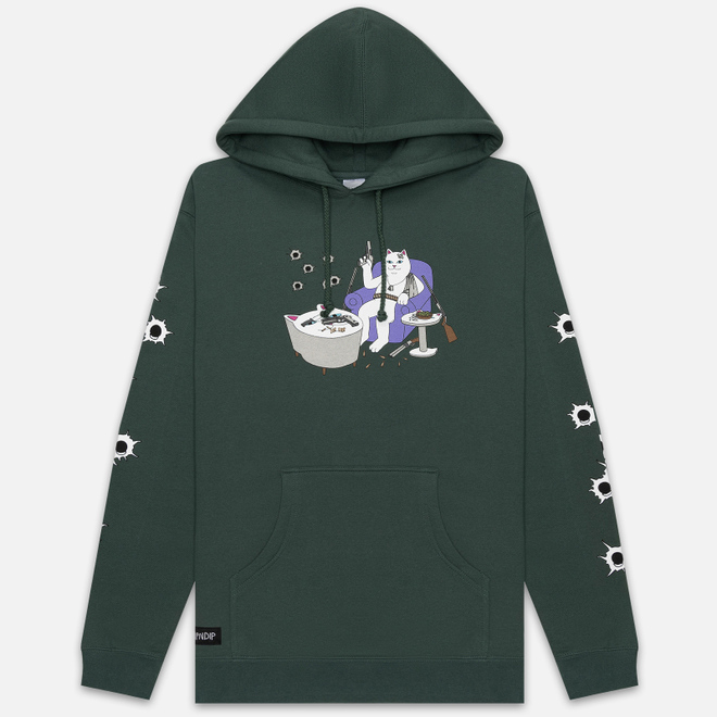 Мужская толстовка RIPNDIP Bullet Proof Hoodie Hunter Green