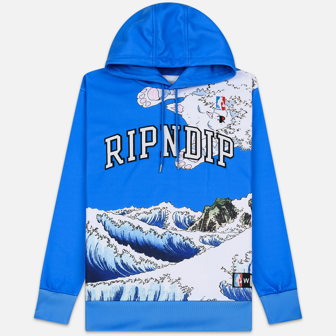 Мужская толстовка RIPNDIP Great Wave Hoodie Blue