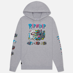 Мужская толстовка RIPNDIP Hash Bros Hoodie Heather Grey