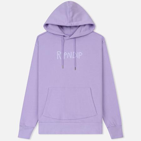 Мужская толстовка RIPNDIP Rubber Logo Hoodie Lavender