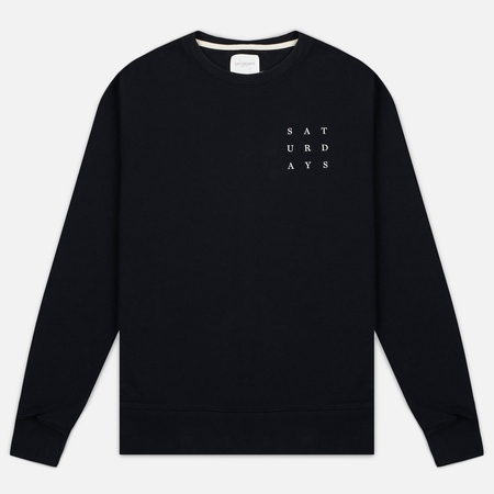 Saturdays Surf NYC Bowery Saturdays Grid Men's Sweatshirt Black