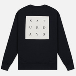 Мужская толстовка Saturdays Surf NYC Bowery Saturdays Grid Black фото- 4