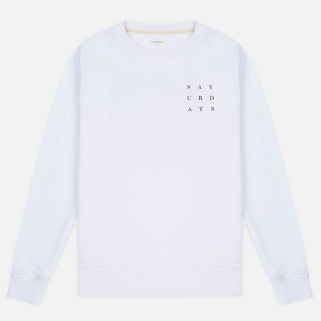 Saturdays Surf NYC Bowery Saturdays Grid Men's Sweatshirt White