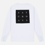 Мужская толстовка Saturdays Surf NYC Bowery Saturdays Grid White фото- 4