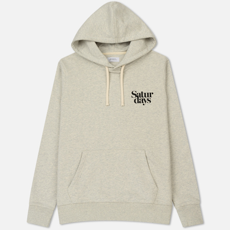 Мужская толстовка Saturdays Surf NYC Ditch Miller Black Chest Hoodie Natural Heather