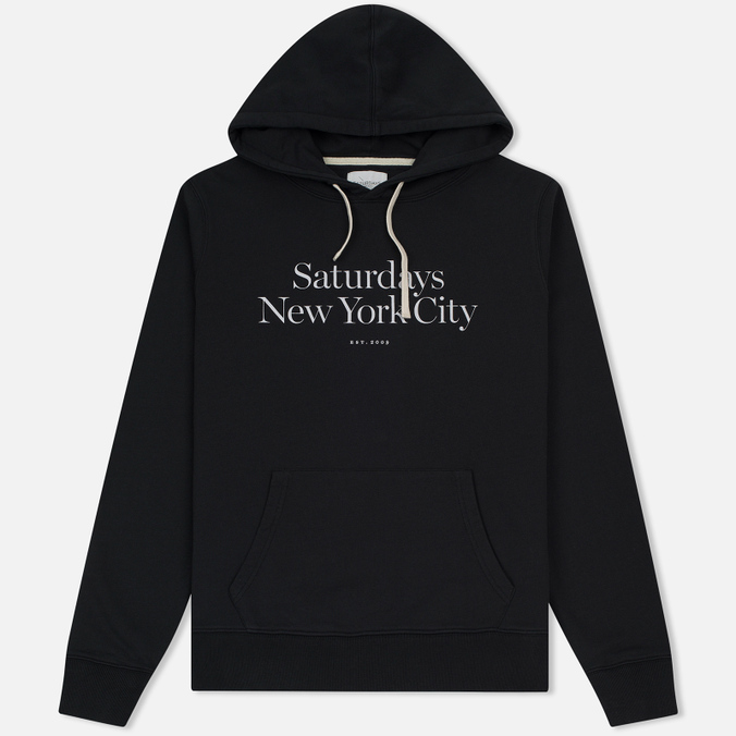 Мужская толстовка Saturdays Surf NYC Ditch Miller Standard Hooded Black