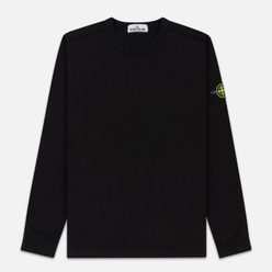 Мужская толстовка Stone Island Classic Crew Neck Heavyweight Cotton Black