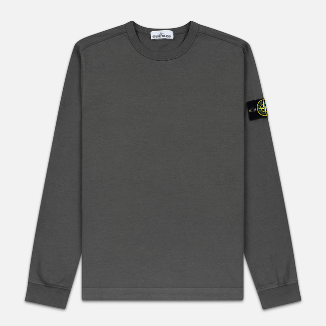 Мужская толстовка Stone Island Classic Crew Neck Heavyweight Cotton Blue Grey