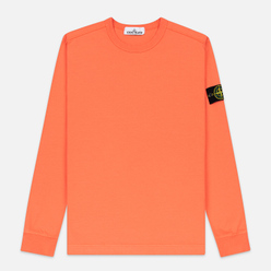 Мужская толстовка Stone Island Classic Crew Neck Heavyweight Cotton Bright Orange