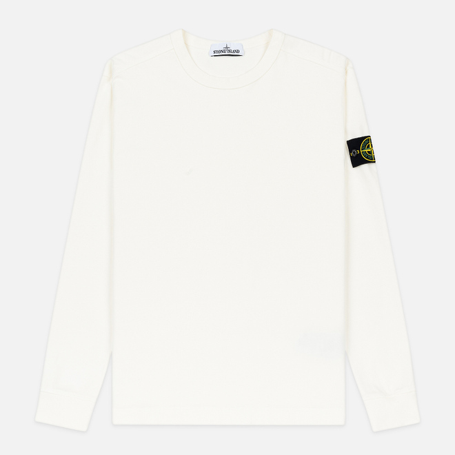 Мужская толстовка Stone Island Classic Crew Neck Heavyweight Cotton Ivory