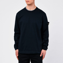 Мужская толстовка Stone Island Classic Crew Neck Heavyweight Cotton Navy Blue фото- 4