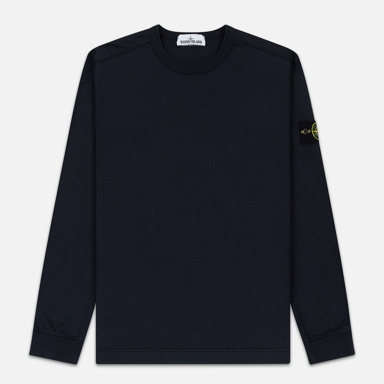 Мужская толстовка Stone Island Classic Crew Neck Heavyweight Cotton Navy Blue