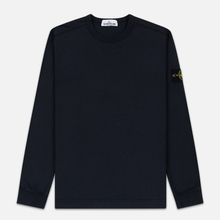 Мужская толстовка Stone Island Classic Crew Neck Heavyweight Cotton Navy Blue фото- 0