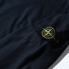 Мужская толстовка Stone Island Classic Crew Neck Heavyweight Cotton Navy Blue фото- 2