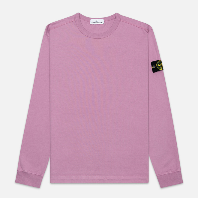 Мужская толстовка Stone Island Classic Crew Neck Heavyweight Cotton Quartz Pink