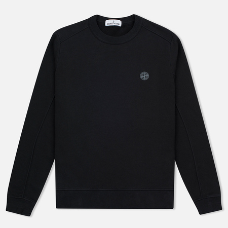 Stone Island Compass Logo Crew Neck Men's sweatshirt Black