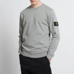 Мужская толстовка Stone Island Crew Garment Dyed Cotton Grey фото- 6