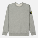 Мужская толстовка Stone Island Crew Garment Dyed Cotton Grey фото- 0