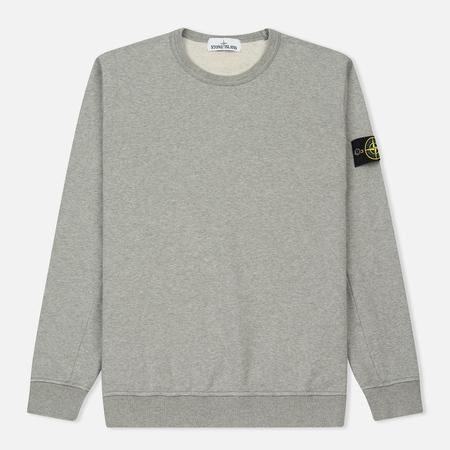Мужская толстовка Stone Island Crew Garment Dyed Cotton Grey