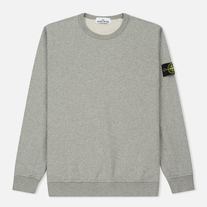 Мужская толстовка Stone Island Crew Garment Dyed Cotton Grey