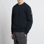 Мужская толстовка Stone Island Crew Garment Dyed Cotton Navy фото- 6