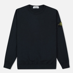 Мужская толстовка Stone Island Crew Garment Dyed Cotton Navy фото- 0