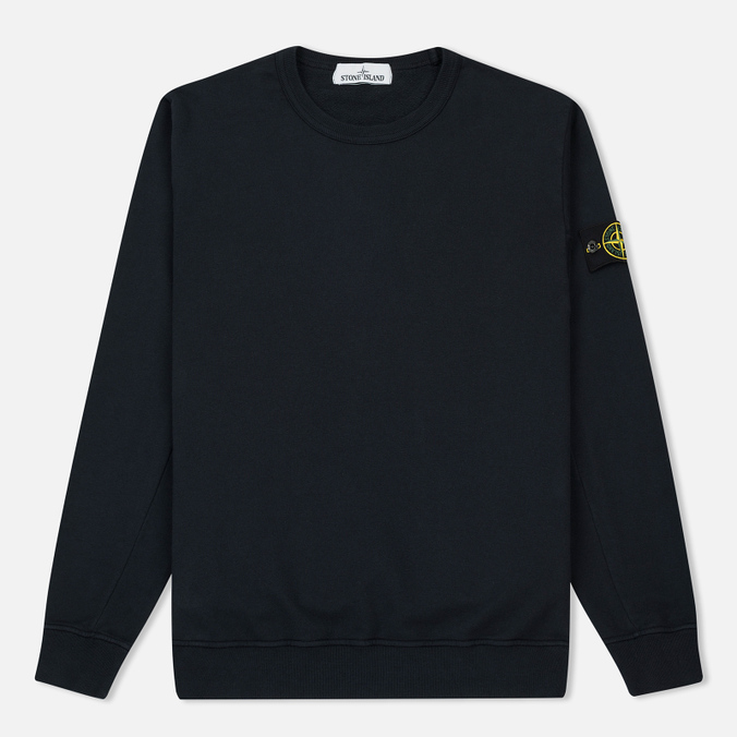 Мужская толстовка Stone Island Crew Garment Dyed Cotton Navy