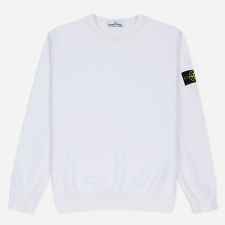 Мужская толстовка Stone Island Crew Garment Dyed Cotton White