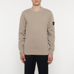 Мужская толстовка Stone Island Crew Neck Brushed Cotton Fleece Beige фото- 4