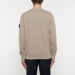 Мужская толстовка Stone Island Crew Neck Brushed Cotton Fleece Beige фото- 5