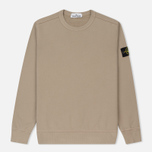 Мужская толстовка Stone Island Crew Neck Brushed Cotton Fleece Beige фото- 0