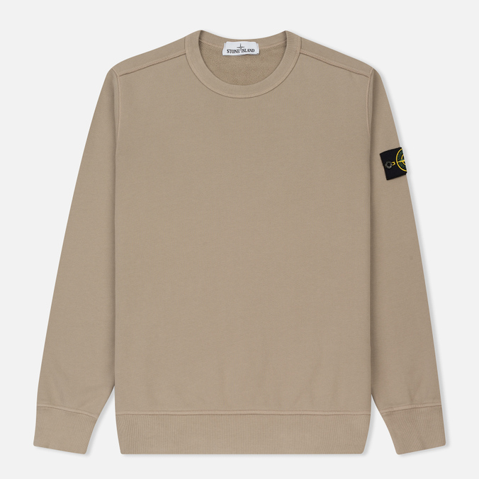 Мужская толстовка Stone Island Crew Neck Brushed Cotton Fleece Beige