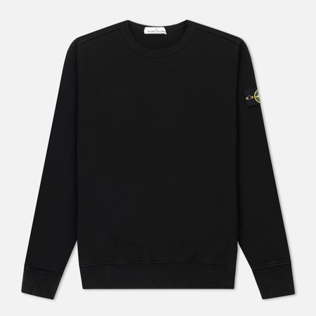Мужская толстовка Stone Island Crew Neck Brushed Cotton Fleece Black