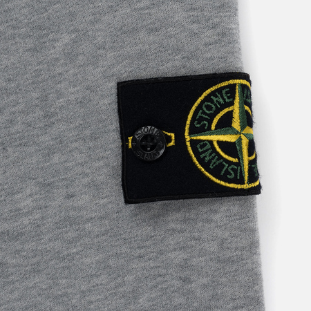 Мужская толстовка Stone Island Crew Neck Brushed Cotton Fleece Dust Melange