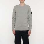 Мужская толстовка Stone Island Crew Neck Brushed Cotton Fleece Light Grey фото- 4