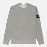 Мужская толстовка Stone Island Crew Neck Brushed Cotton Fleece Light Grey фото- 0