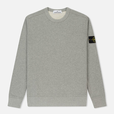 Мужская толстовка Stone Island Crew Neck Brushed Cotton Fleece Light Grey
