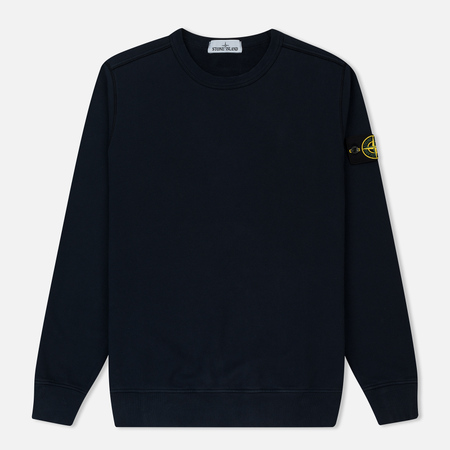 Мужская толстовка Stone Island Crew Neck Brushed Cotton Fleece Marine Blue