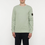 Мужская толстовка Stone Island Crew Neck Brushed Cotton Fleece Green фото- 4