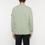 Мужская толстовка Stone Island Crew Neck Brushed Cotton Fleece Green фото- 5