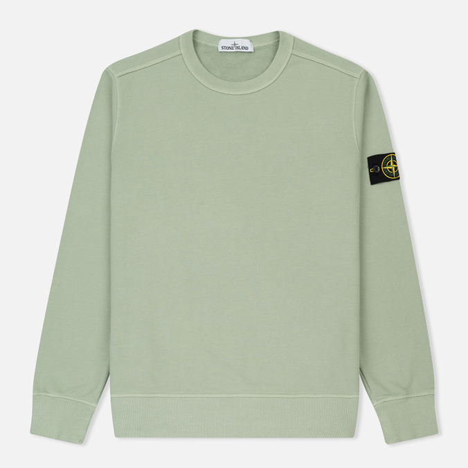 Мужская толстовка Stone Island Crew Neck Brushed Cotton Fleece Green