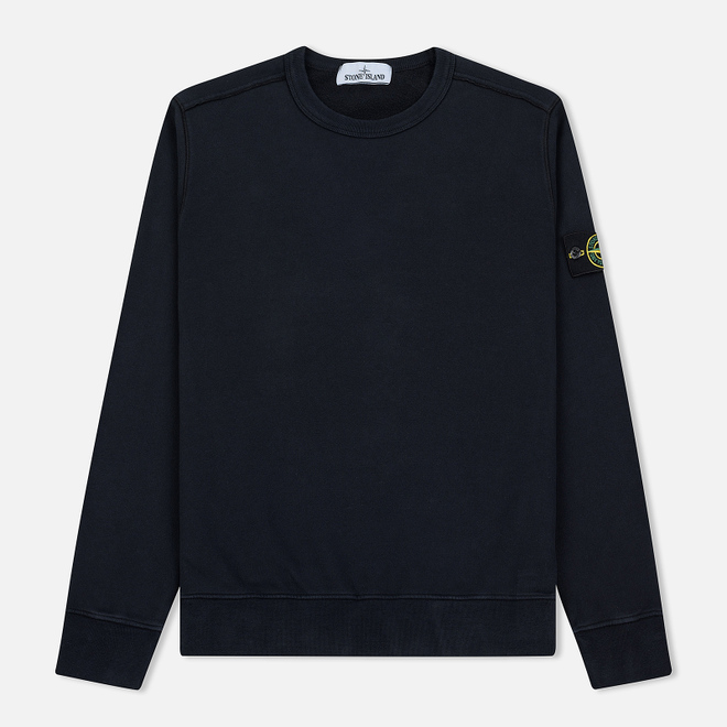 Мужская толстовка Stone Island Crew Neck Brushed Cotton Fleece Navy