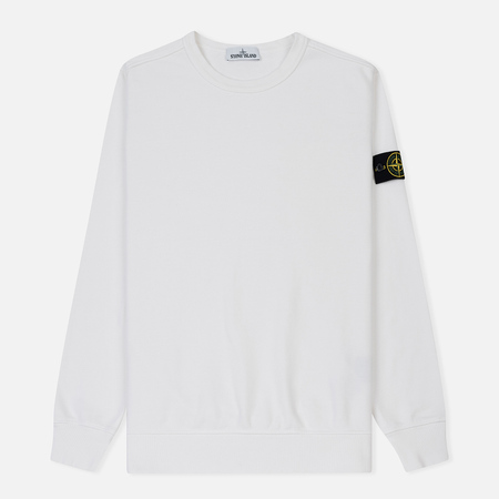 Мужская толстовка Stone Island Crew Neck Brushed Cotton Fleece White